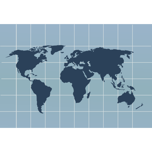 World map with grid vector image