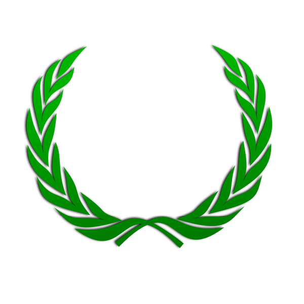 Wreath in green color