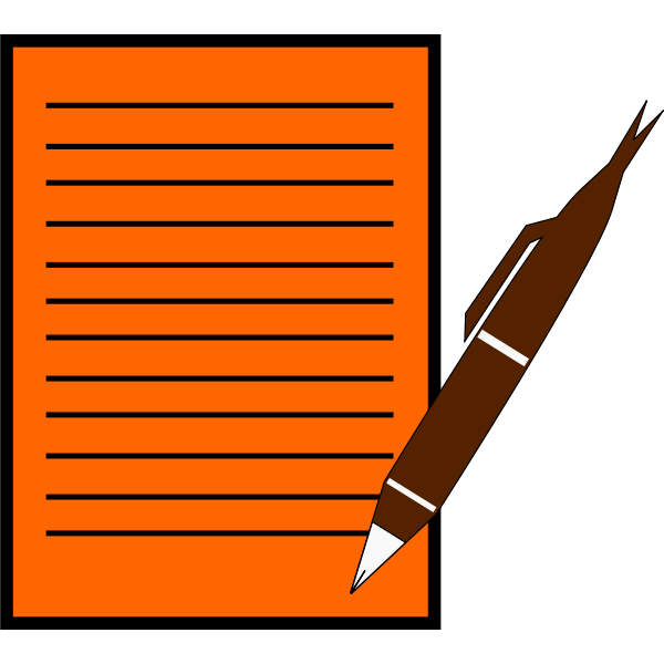 Paper and pen symbol