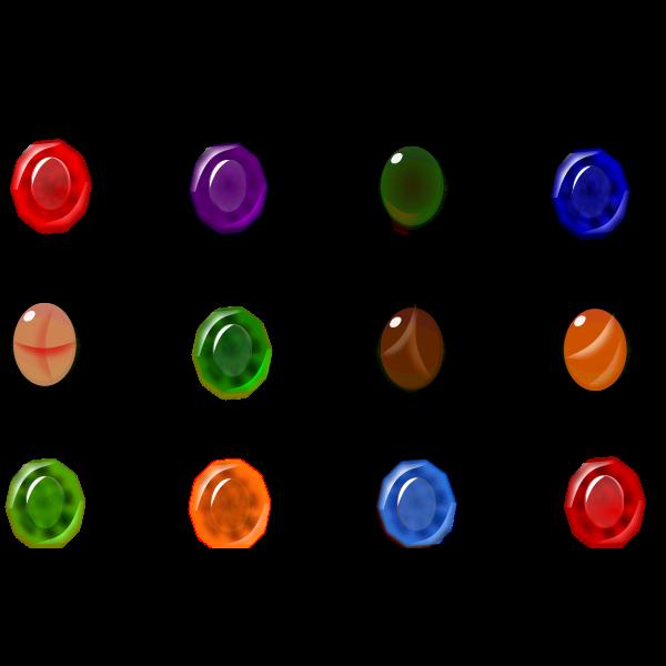 Birthstones vector image