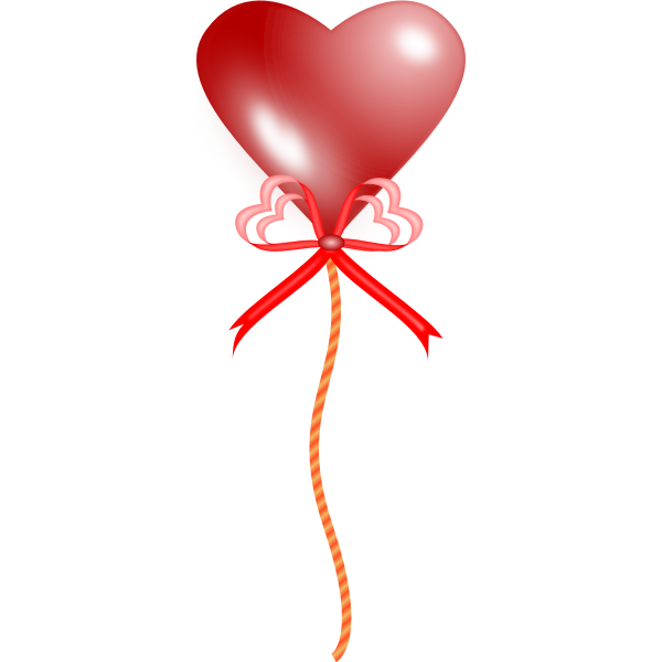 Vector graphics of red heart shaped balloon
