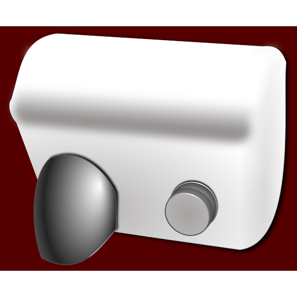 Vector clip art of electronic manual hand dryer