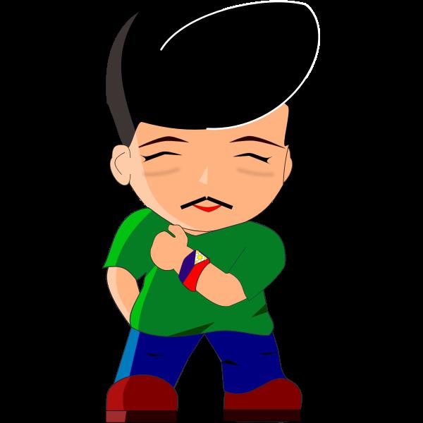 Vector cartoon image of Phillipines President