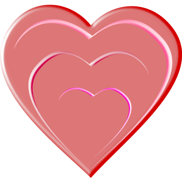 Vector drawing of glossy heart