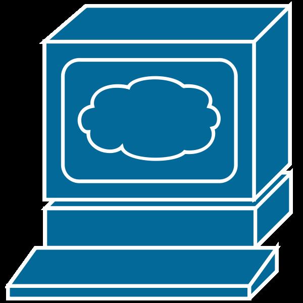 Cartoon PC icon vector clip art