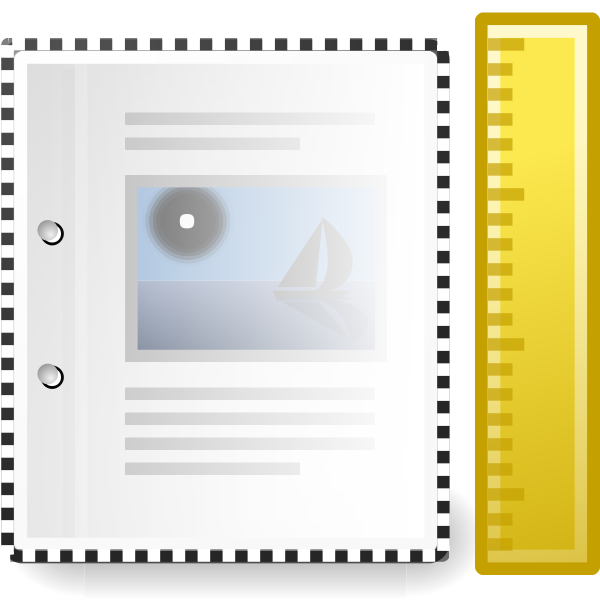 Tango X office document template vector image