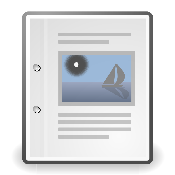 Tango X office document vector image