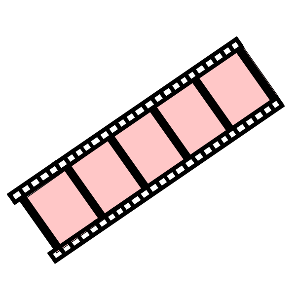 Drawing of basic movie strip with pink slides