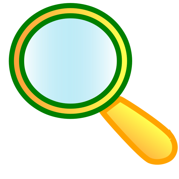 Vector graphics of magnifier with orange handle