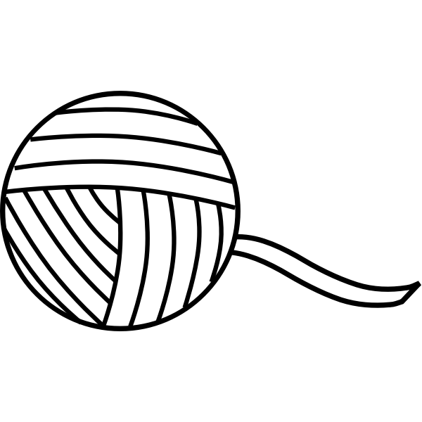 Yarn line art vector graphics
