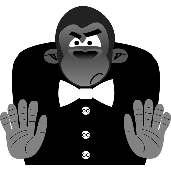 Gorilla cartoon caricature