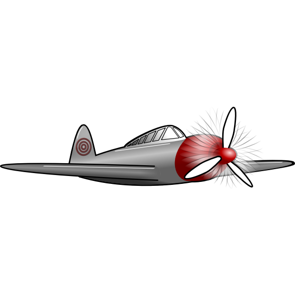 Old style plane vector drawing