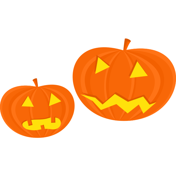Halloween pumpkins vector clip art