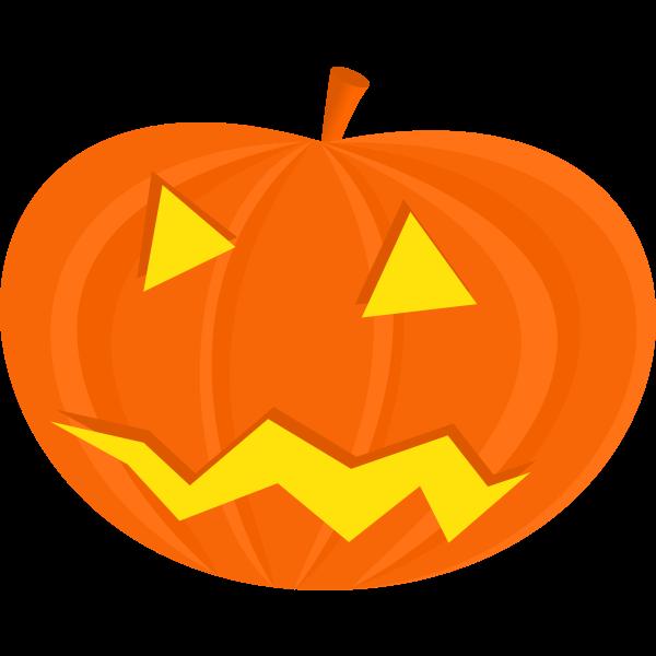 Scary Halloween pumpkin vector drawing