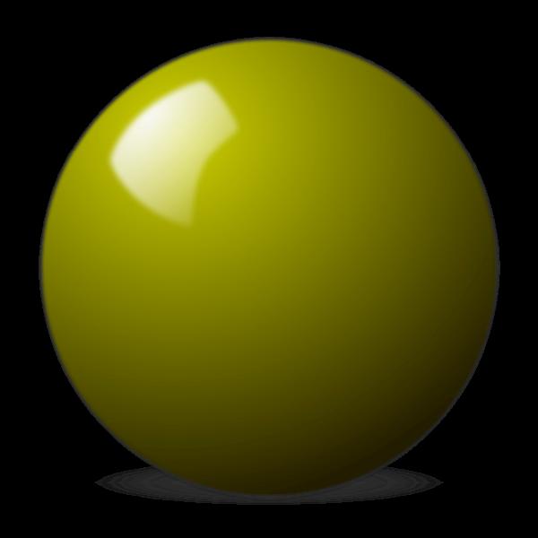 yellow snooker ball