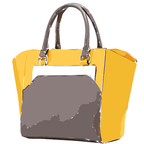 yellow tan bag
