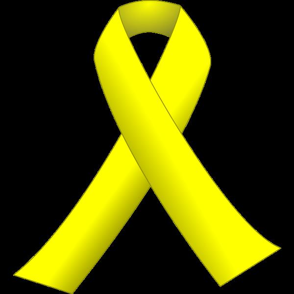 Yellow ribbon vector illustration