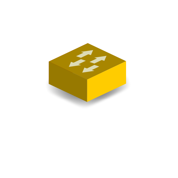 Yellow switch vector clip art