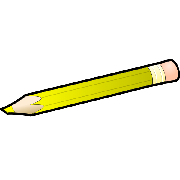Yellow outlined pencil