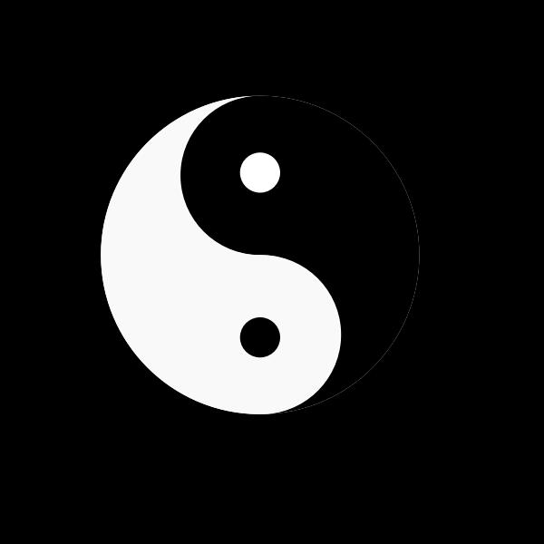 Yin Yang silhouette
