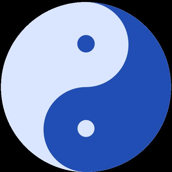 Blue Yin and Yang