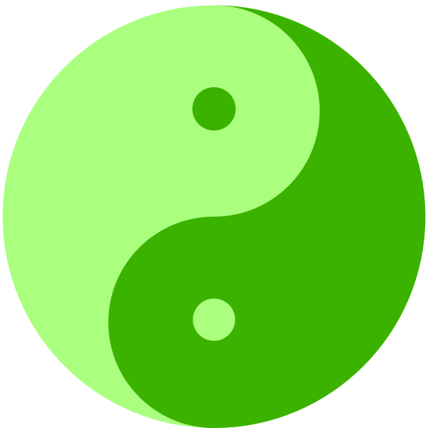 Green Yin and Yang