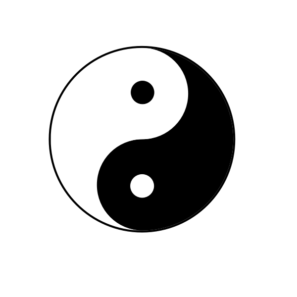 Black and white Yin Yang