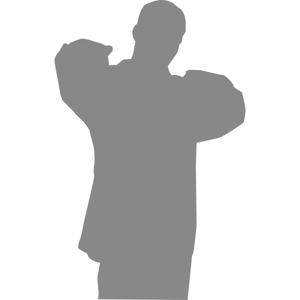 Silhouette vector illustration of rapper