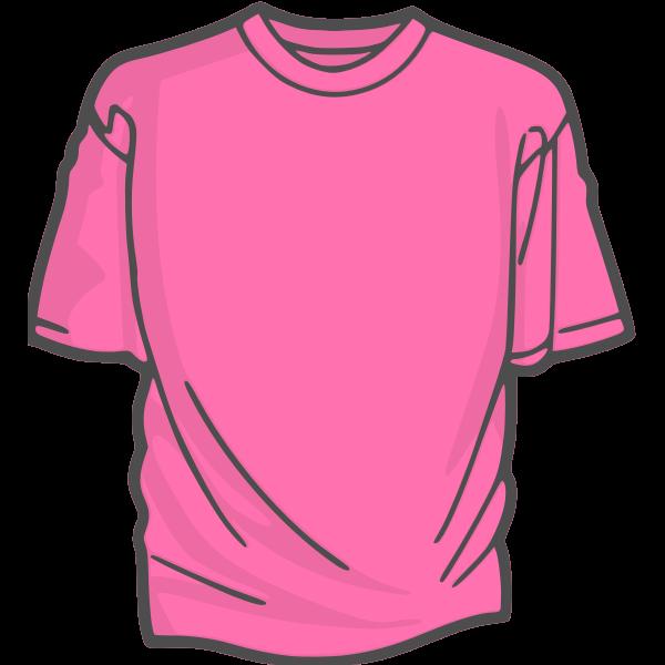 Pink t-shirt vector image