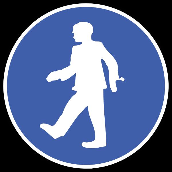 Pedestrian blue symbol