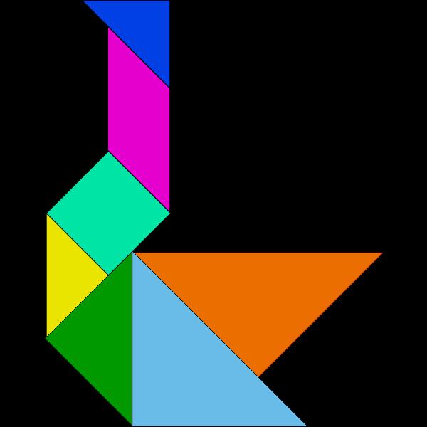 Tangram geometric shape
