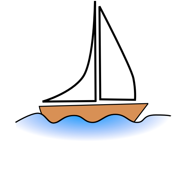 Simple boat vector drawing