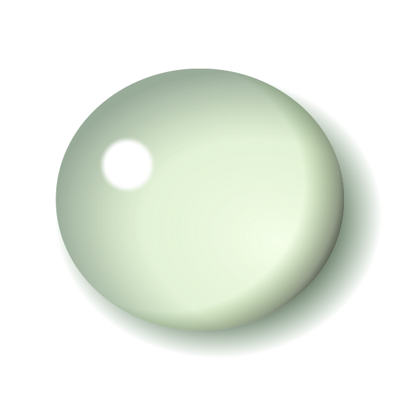 White vector drawing of button