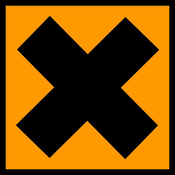 Irritant product warning sign vector illustration