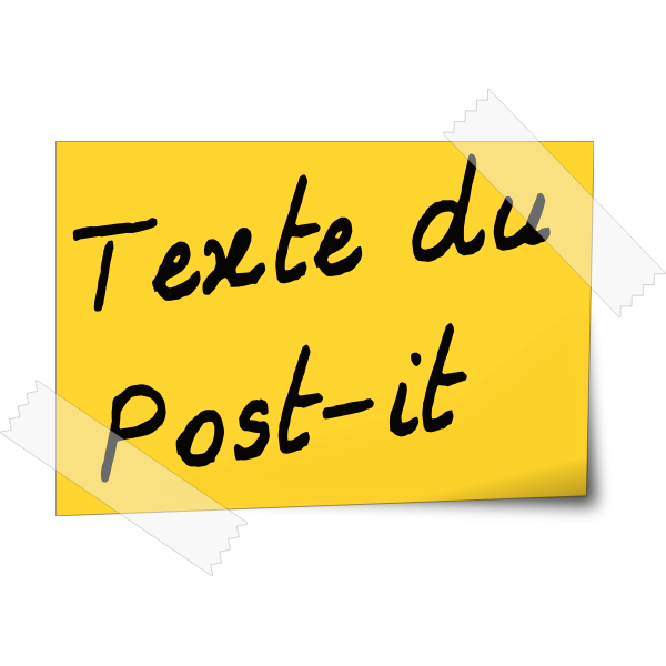 Post-it note vector image