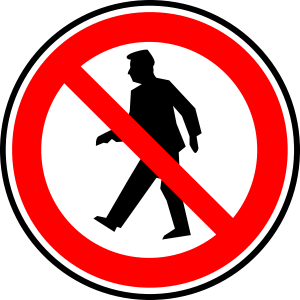 Vector drawing of traffic sign in circle