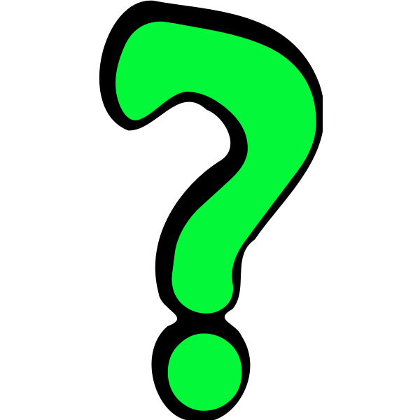 Green questionmark sign vector image