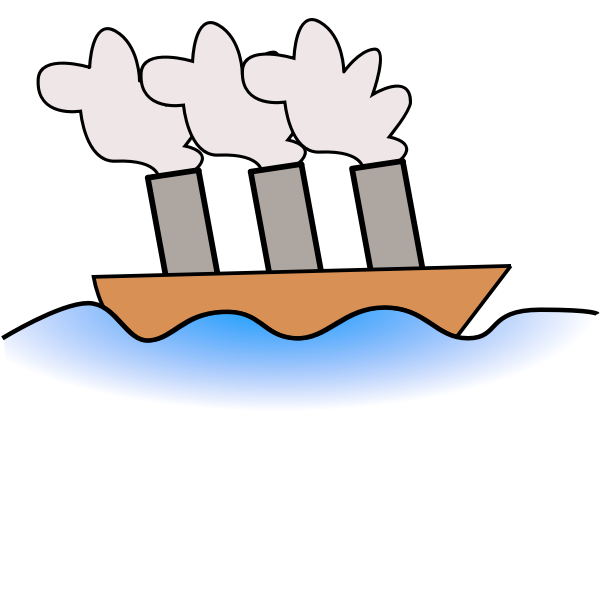 Steamer ship vector image