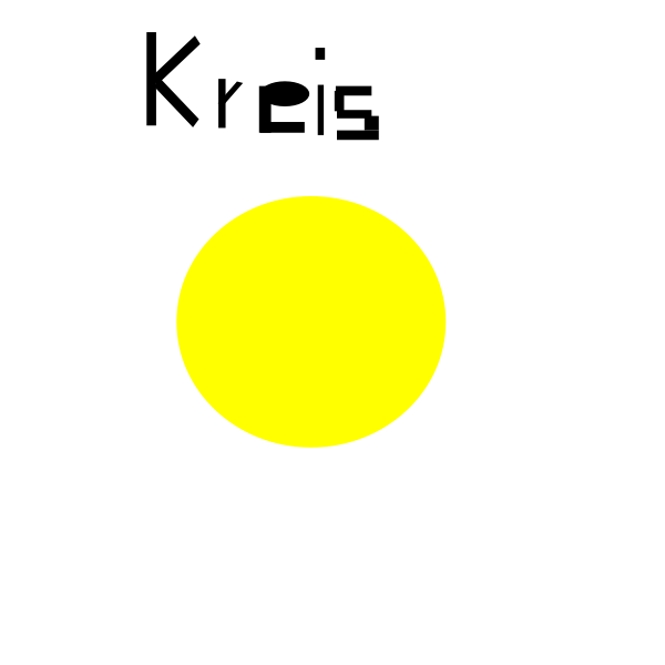 Yellow circle vector image