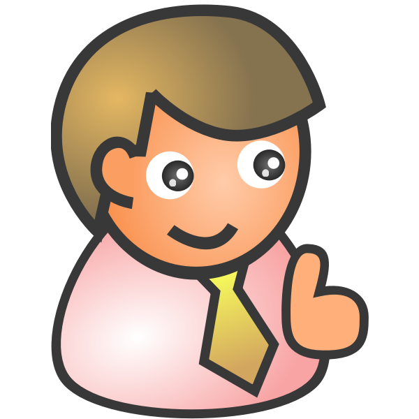 Vector image of smiling male avatar