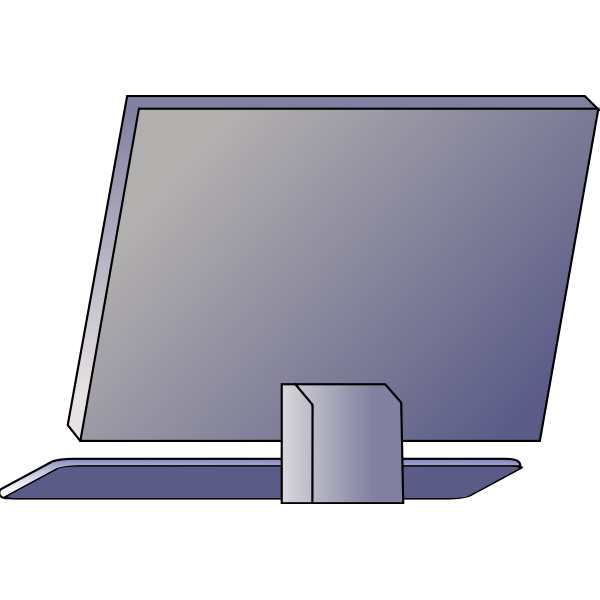 Vector image of the back of the PC