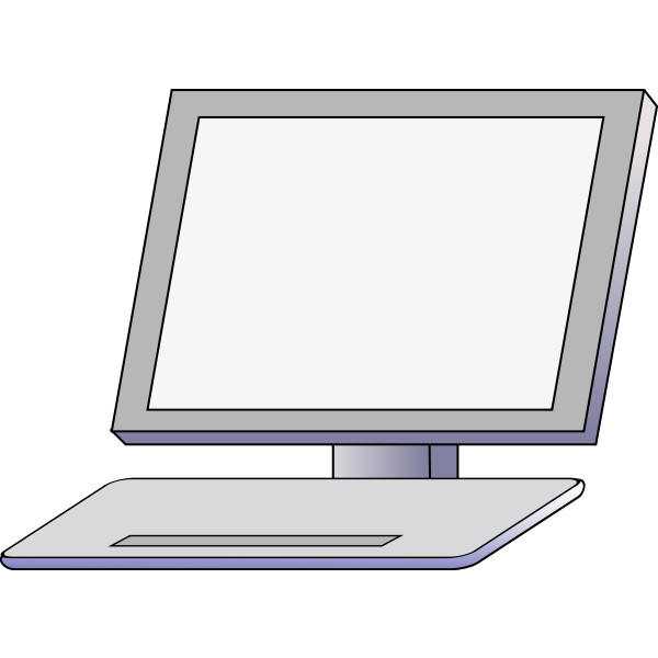 Vector illustration of the front of the PC