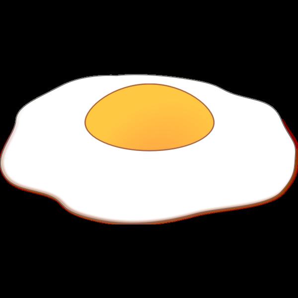 Sunny side up baked egg vector clip art