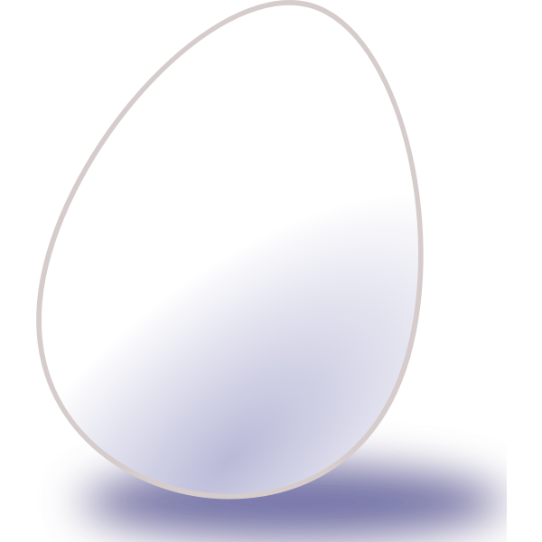 Vector image of white egg with shadow