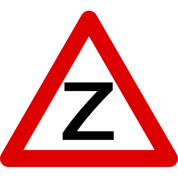 Vector drawing of traffic sign in triangle