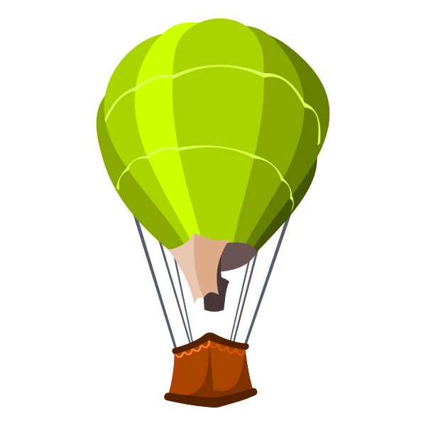 Air baloon vector image