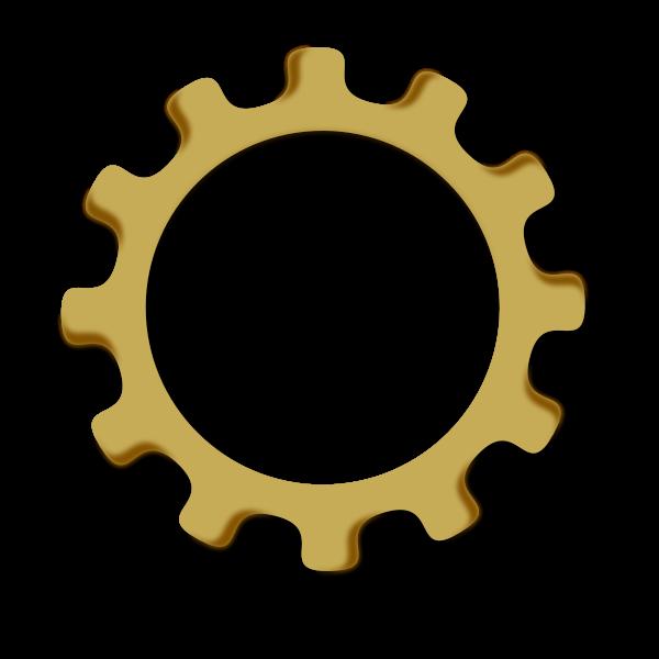 Gear wheel vector graphics