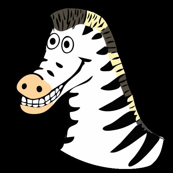 drawn zebra