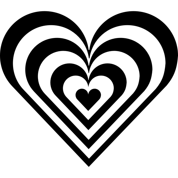 Vector image of decorative heart