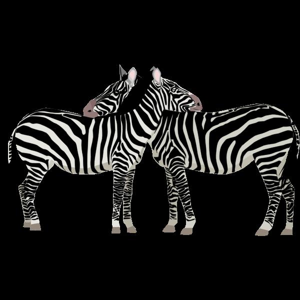 Zebras monochrome art